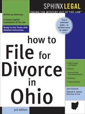How to file for divorce in ohio by john gilchrist overdrive how to file for divorce in ohio solutioingenieria Images