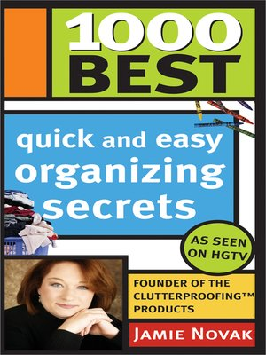 cover image of 1,000 Best Quick and Easy Organizing Secrets