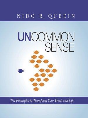 cover image of Uncommon Sense