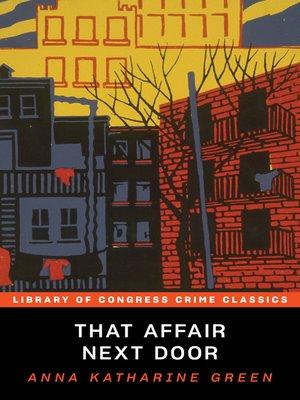 cover image of That Affair Next Door