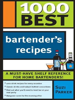 cover image of 1000 Best Bartender Recipes