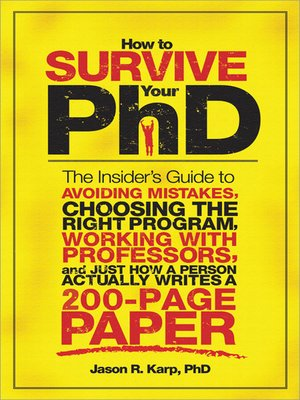 cover image of How to Survive Your PhD