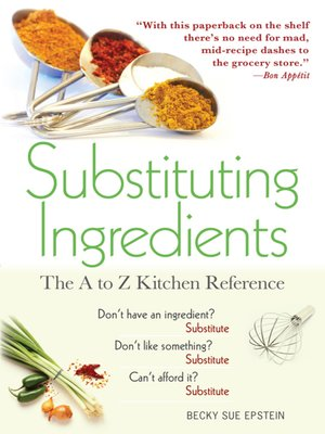 cover image of Substituting Ingredients