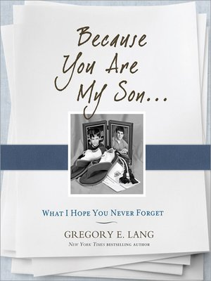 cover image of Because You Are My Son