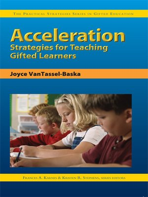 cover image of Acceleration Strategies for Teaching Gifted Learners