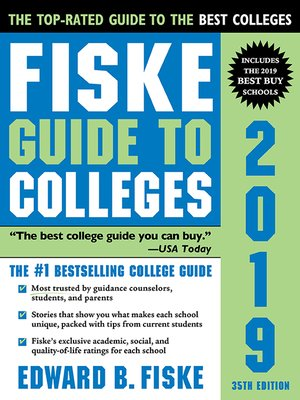 cover image of Fiske Guide to Colleges 2019