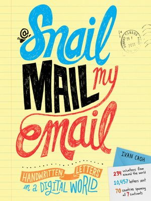 cover image of Snail Mail My Email