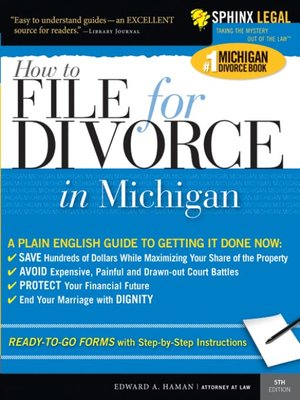 How to File for Divorce in Michigan by Edward Haman