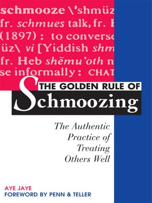 cover image of The Golden Rule of Schmoozing