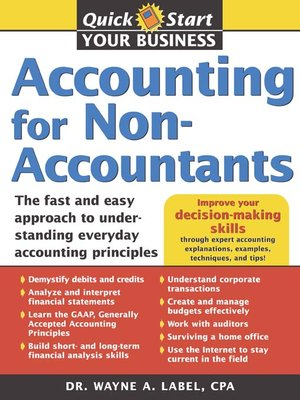 cover image of Accounting for Non-Accountants