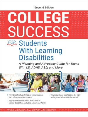 cover image of College Success for Students With Learning Disabilities