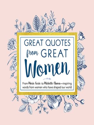 cover image of Great Quotes from Great Women