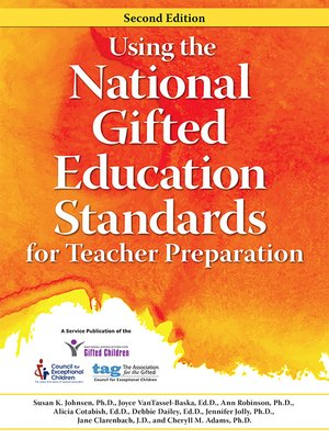 cover image of Using the National Gifted Education Standards for Teacher Preparation