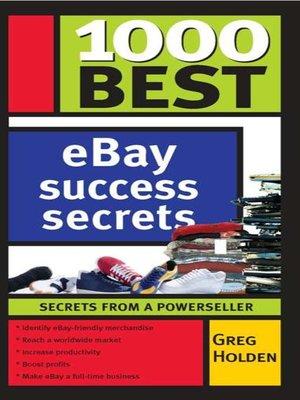 cover image of 1000 Best eBay Success Secrets
