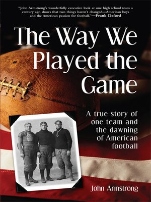 cover image of The Way We Played the Game