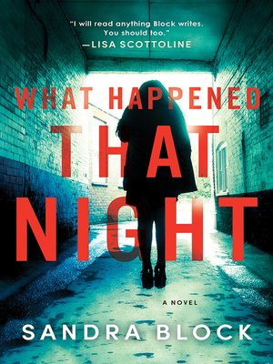cover image of What Happened That Night