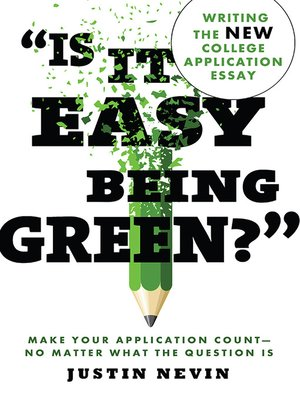 "cover image of ""Is It Easy Being Green?"""