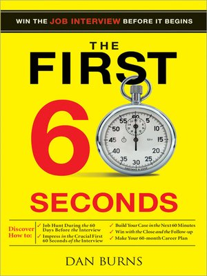 cover image of The First 60 Seconds