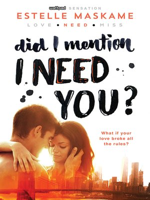 cover image of Did I Mention I Need You?