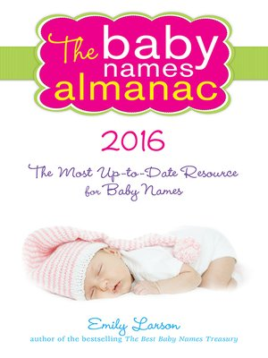 cover image of The 2016 Baby Names Almanac