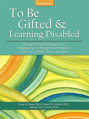 cover image of To Be Gifted and Learning Disabled