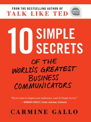 cover image of 10 Simple Secrets of the World's Greatest Business Communicators