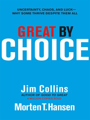 cover image of Great by Choice