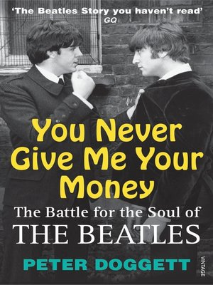 cover image of You Never Give Me Your Money