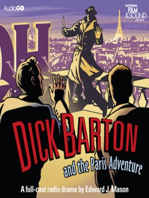cover image of Dick Barton and the Paris Adventure