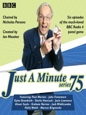 cover image of Just a Minute, Series 75