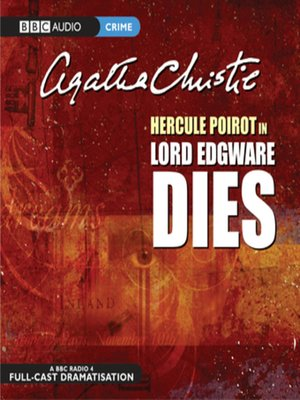 cover image of Lord Edgware Dies