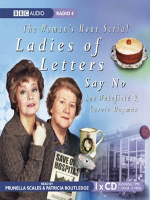 cover image of Ladies of Letters Say No