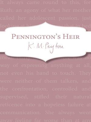 cover image of Pennington's Heir