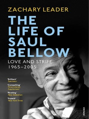 cover image of The Life of Saul Bellow