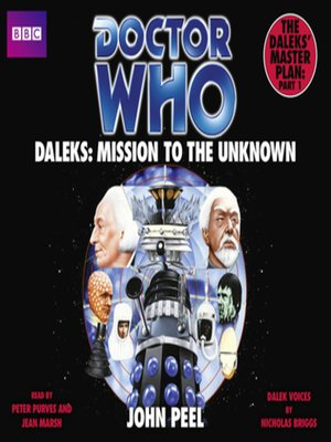 cover image of Doctor Who Daleks--Mission to the Unknown