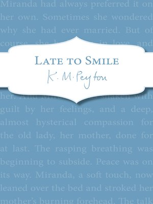 cover image of Late to Smile