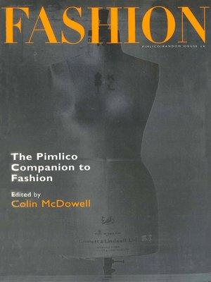 cover image of The Pimlico Companion to Fashion