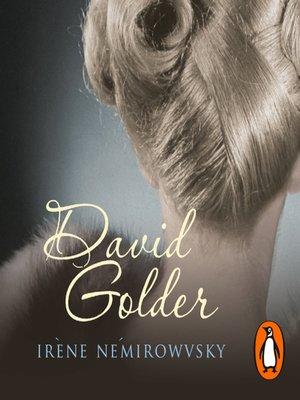 cover image of David Golder