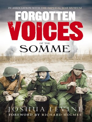 cover image of Forgotten Voices of the Somme