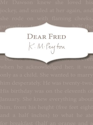 cover image of Dear Fred