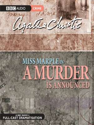 cover image of A Murder is Announced