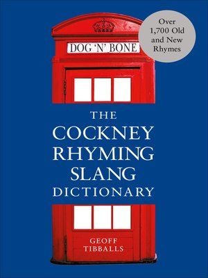 cover image of The Cockney Rhyming Slang Dictionary
