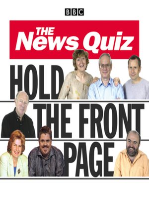 cover image of The News Quiz--Hold the Front Page