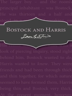 cover image of Bostock and Harris