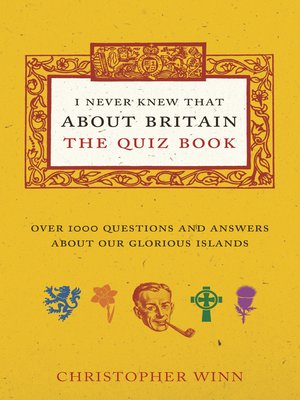 cover image of I Never Knew That About Britain
