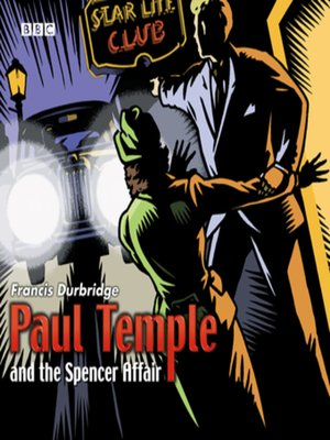 cover image of Paul Temple and the Spencer Affair