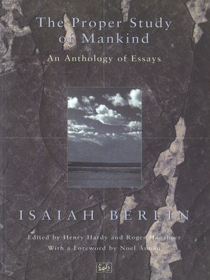 cover image of The Proper Study of Mankind