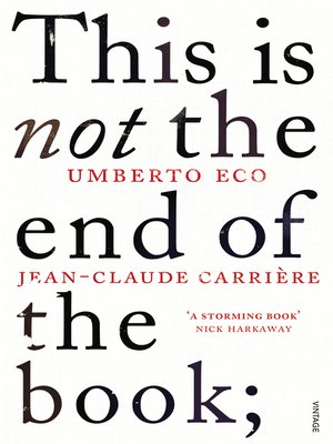 cover image of This is Not the End of the Book