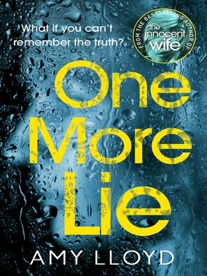 cover image of One More Lie