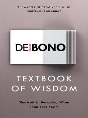 cover image of Textbook of Wisdom